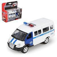 Машина металлическая 'Микроавтобус Полиция', масштаб 150, инерция