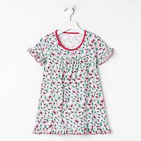 Сорочка для девочки, цвет малиновый, рост 104 см (4 года)