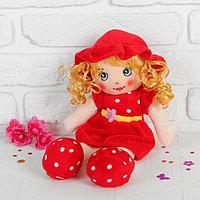 Мягкая кукла 'Девочка', платье в горох с цветком, цвета МИКС