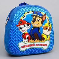 Щенячий патруль. Рюкзак детский плюшевый 'Лучшие друзья', 24,5 x 24,5 см