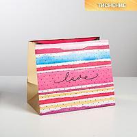 Пакет ламинированный Love, 30,5 x 25,5 x 18 см (комплект из 6 шт.)