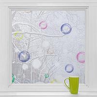 Витражная плёнка 'Мыльные пузыри', 45x200 см