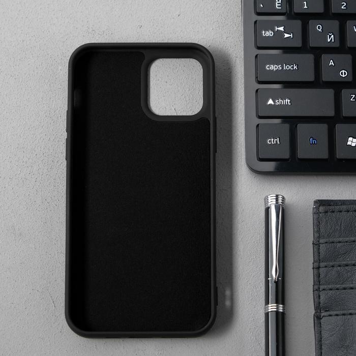 Чехол Activ Full Original Design, для Apple iPhone 12/12 Pro, силиконовый, чёрный - фото 2