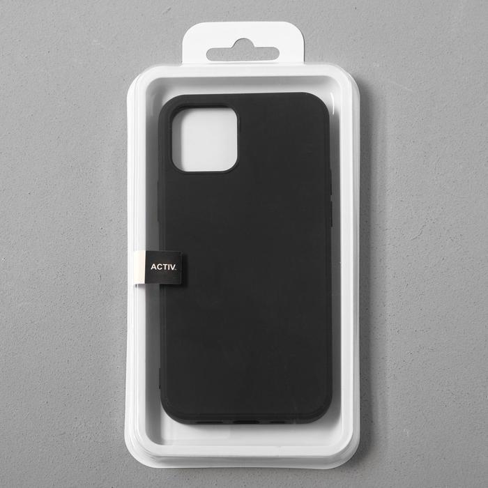 Чехол Activ Full Original Design, для Apple iPhone 12/12 Pro, силиконовый, чёрный - фото 4