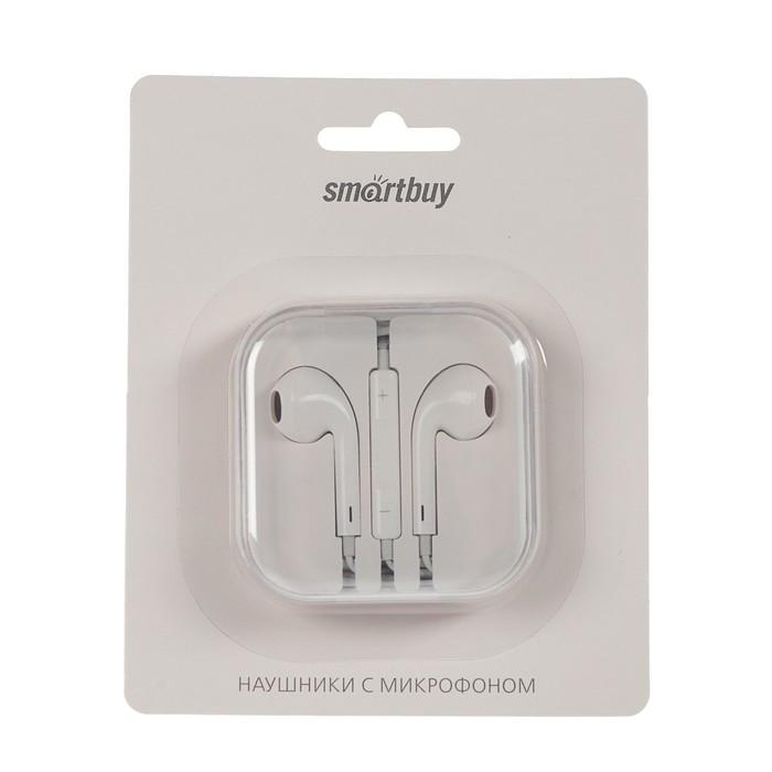 Наушники SmartBuy i-ONE SBH-101, вкладыши, микрофон, 98 дБ, 32 Ом, 3.5 мм, 1.5 м, белые - фото 3