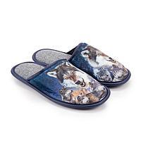 Тапочки мужские, цвет синий, размер 45