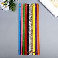 Цветной гофрокартон д/квиллинга 'Зайчик' (набор 10 шт) 10 цветов