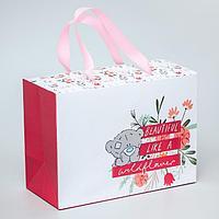 Пакет-коробка 'Beautiful like a wildflower', Me To You, 20 x 28 x 13 см