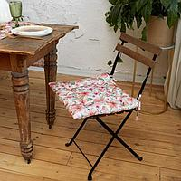 Сидушка на стул Этель Flowers 42х42см, 100 хл, 190 г/м2