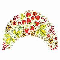 Термонаклейка 'Хохлома ягодки' 31,5*23,5 см, набор 10 штук