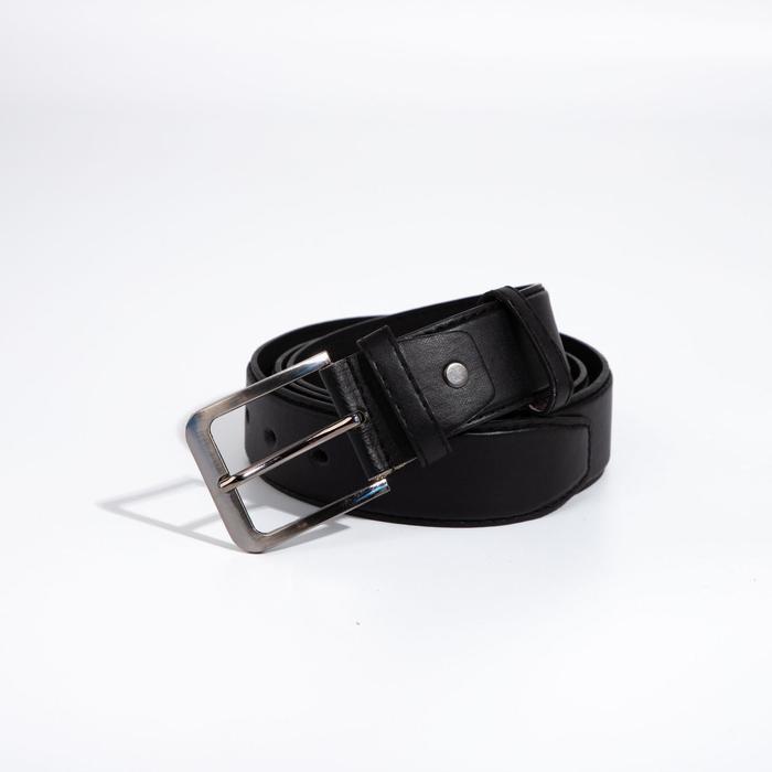 Ремень мужской, ширина 3,8 см, винт, пряжка металл, цвет чёрный - фото 1