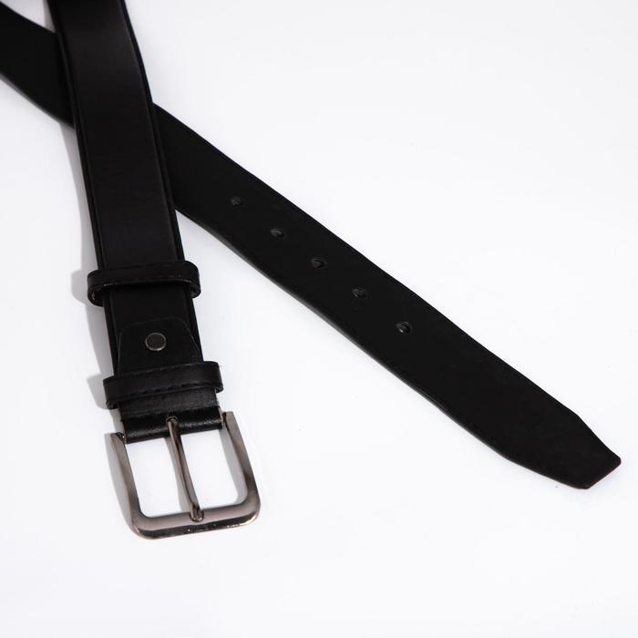 Ремень мужской, ширина 3,8 см, винт, пряжка металл, цвет чёрный - фото 2