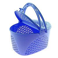 Корзина для пикника, 39x29x23 см, цвет голубой