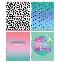 Тетрадь 80 листов в клетку 'Я всегда права', обложка мелованный картон, выборочный лак, блок офсет, МИКС