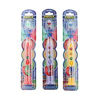 Детская зубная щетка PJ MASKS, таймер, подсветка-светофор, мягкая щетина, детям с 3 лет