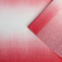 Бумага гофрированная, 600/4 'Бело-розовая', 0,5 х 2,5 м