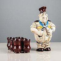 Набор для коньяка 'Гаишник', 7 предметов в наборе, 1,25 л / 0.05 л