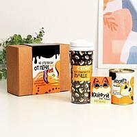 Подарочный набор 'Не отвлекай' термостакан, открытка, носки 39-42