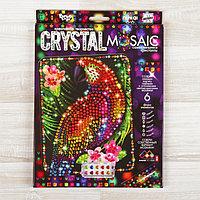 Набор для создания мозаики 'Попугай' CRYSTAL MOSAIC, на тёмном фоне