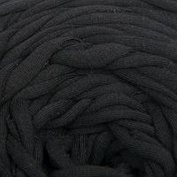 Пряжа трикотажная 'Вторичка' 100м/500гр ширина нити 7-9 мм (черный)