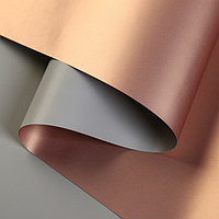 Пленка матовая для цветов, двухсторонняя,'Зефир', серо-бронзовая, 57 см х 5 м