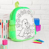 Рюкзак с рисунком под роспись 'Мишка' + фломастеры 5 цветов, цвета МИКС