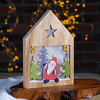 Декор с подсветкой 'Дед Мороз с подарками' 2,2x15,5x22 см