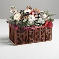 Кашпо флористическое 'Заборчик', ветки, 24 х 13 х 13 см
