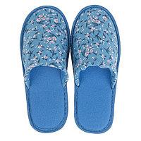 Тапочки женские цвет голубой, размер 40