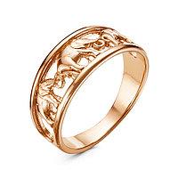Кольцо 'Слоны', позолота, 18 размер