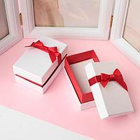 Коробочка подарочная под набор 'Рафаэлло', 5,5*8,5 (размер полезной части 5,4х8,3см), цвет бело-красный