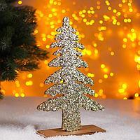 Новогодний декор 'Яркая ёлочка' золотая 0,5х17х26 см