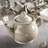 Чайник 'Акварель', 400 мл, цвет бежевый