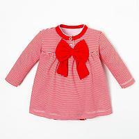 Боди-платье Крошка Я 'Полоска', рост 80-86 см, красный