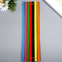 Цветной гофрокартон д/квиллинга 'Пингвин' (набор 7 шт) 7 цветов