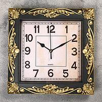 Часы настенные, серия Интерьер, 'Мюзле', бронзовые, 26х26 см микс