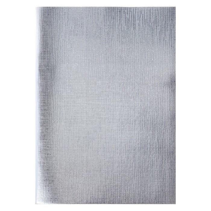 Тетрадь А4, 96 листов в клетку 'Серебро. METALLIC', бумвинил - фото 1