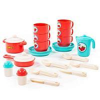 Набор детской посуды 'Хозяюшка', на 6 персон, 38 элементов