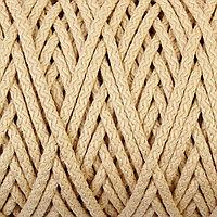 Шнур для вязания с сердечником 100 полиэфир, ширина 5 мм 100м/550гр (155 молочный)