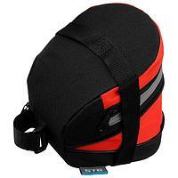 Велосумка под седло STG 13014, цвет черный/красный