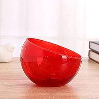Ваза 'Анабель' шаровая с косым резом красная d-12см, h-9.5см 1668