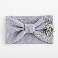 Повязка для девочки 'Катерина', цвет светло-серый, размер 48-54 (2-7 лет)