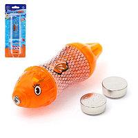 Аквариумная рыбка 'Кальмар', плавает в воде, работает от батареек, МИКС