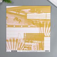 Бумага для скрапбукинга Heidi Swapp - Коллекция 'Old School' - лист 'Matinee' (комплект из 5 шт.)