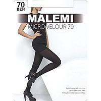 Колготки женские MALEMI Micro Velour 70 den, цвет тёмный загар (chocolate), размер 2