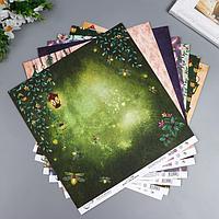 Набор бумаги для скрапбукинга 'Лесная магия' 7 листов, 30.5x30.5 см, 190 гр/м2