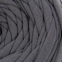 Пряжа трикотажная широкая 50м/160гр, ширина нити 7-9 мм (260 т.серый)