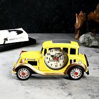 Будильник 'Жёлтая машина', d7 см, 3 ААА, 24х4х11 см