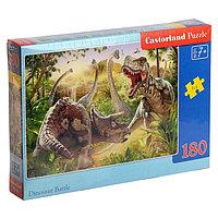 Пазл 180 элементов 'Битва динозавров'