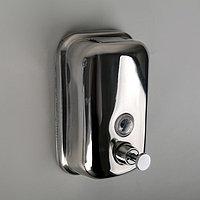 Диспенсер для антисептика/жидкого мыла механический, 500 мл, нержавеющая сталь